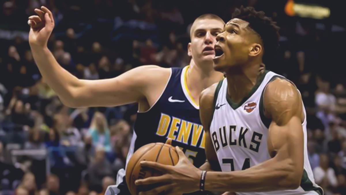 Giannis Antetokounmpo and Nikola Jokic
